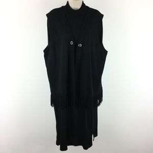 Nina Leonard Black Sweater Dress 2X